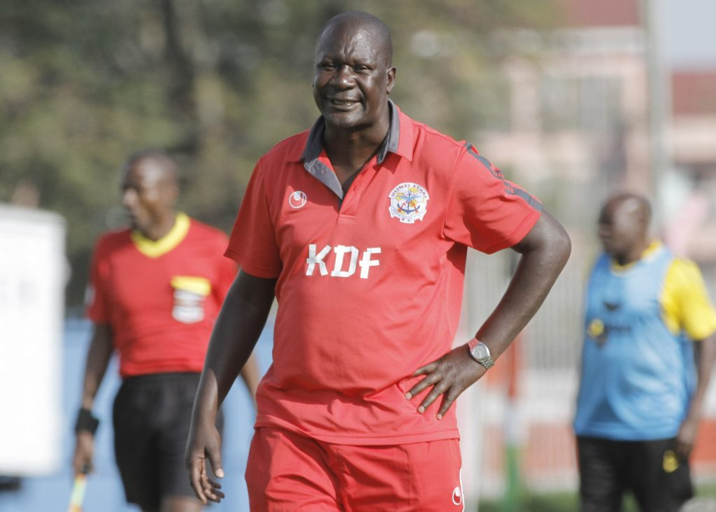 Robert Matano during his days as Ulinzi Stars head coach
