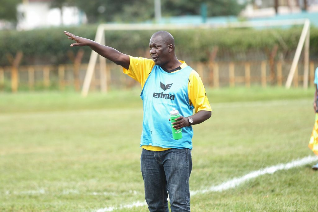 Tusker coach Robert Matano issues instructions during a past game